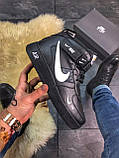 Зимние кроссовки Nike Air Force High Black Fur найк аир форс 1 хай зимові кросівки Nike Air Force 1 High '07, фото 3