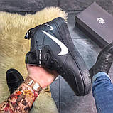 Зимние кроссовки Nike Air Force High Black Fur найк аир форс 1 хай зимові кросівки Nike Air Force 1 High '07, фото 5