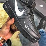 Зимние кроссовки Nike Air Force High Black Fur найк аир форс 1 хай зимові кросівки Nike Air Force 1 High '07, фото 6