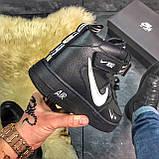 Зимние кроссовки Nike Air Force High Black Fur найк аир форс 1 хай зимові кросівки Nike Air Force 1 High '07, фото 8