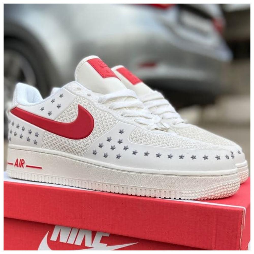 Мужские кроссовки Nike Air Force 1 Low White Red кроссовки найк аир форс лов кросівки Nike Air Force 1 07