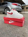 Мужские кроссовки Nike Air Force 1 Low White Red кроссовки найк аир форс лов кросівки Nike Air Force 1 07, фото 8