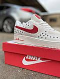 Мужские кроссовки Nike Air Force 1 Low White Red кроссовки найк аир форс лов кросівки Nike Air Force 1 07, фото 9
