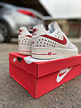 Мужские кроссовки Nike Air Force 1 Low White Red кроссовки найк аир форс лов кросівки Nike Air Force 1 07, фото 10