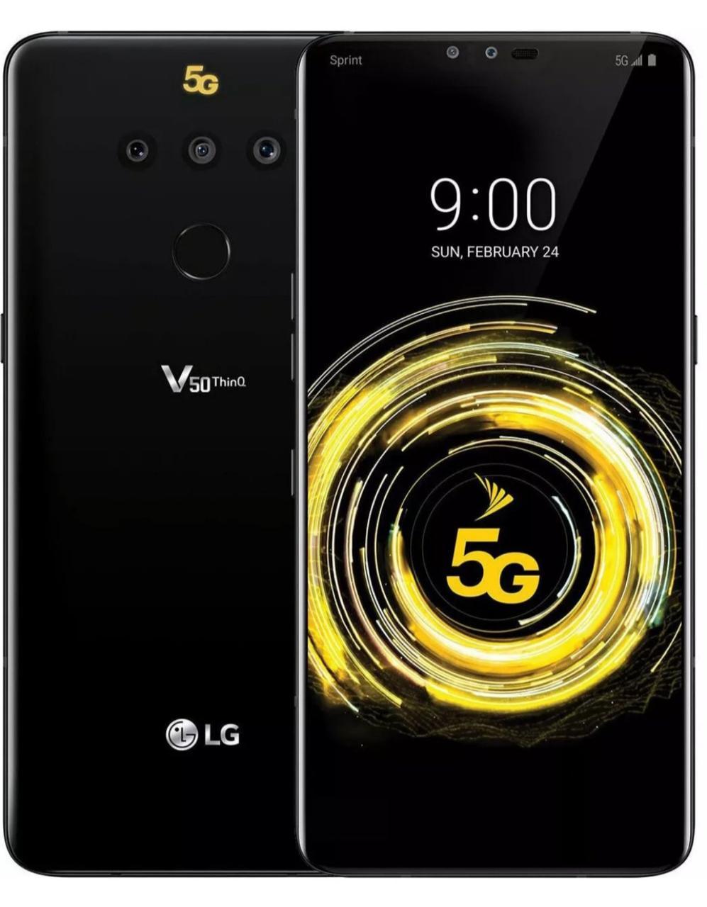 Смартфон LG V50 6/128GB Black