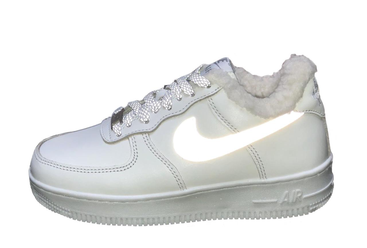 Зимние кроссовки Nike Air Force Reflective найк аир форс 1 07 кроссовки Nike Air Force 1 07 зимові кросівки