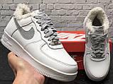 Зимние кроссовки Nike Air Force Reflective найк аир форс 1 07 кроссовки Nike Air Force 1 07 зимові кросівки, фото 4