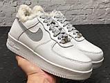 Зимние кроссовки Nike Air Force Reflective найк аир форс 1 07 кроссовки Nike Air Force 1 07 зимові кросівки, фото 5
