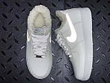 Зимние кроссовки Nike Air Force Reflective найк аир форс 1 07 кроссовки Nike Air Force 1 07 зимові кросівки, фото 8