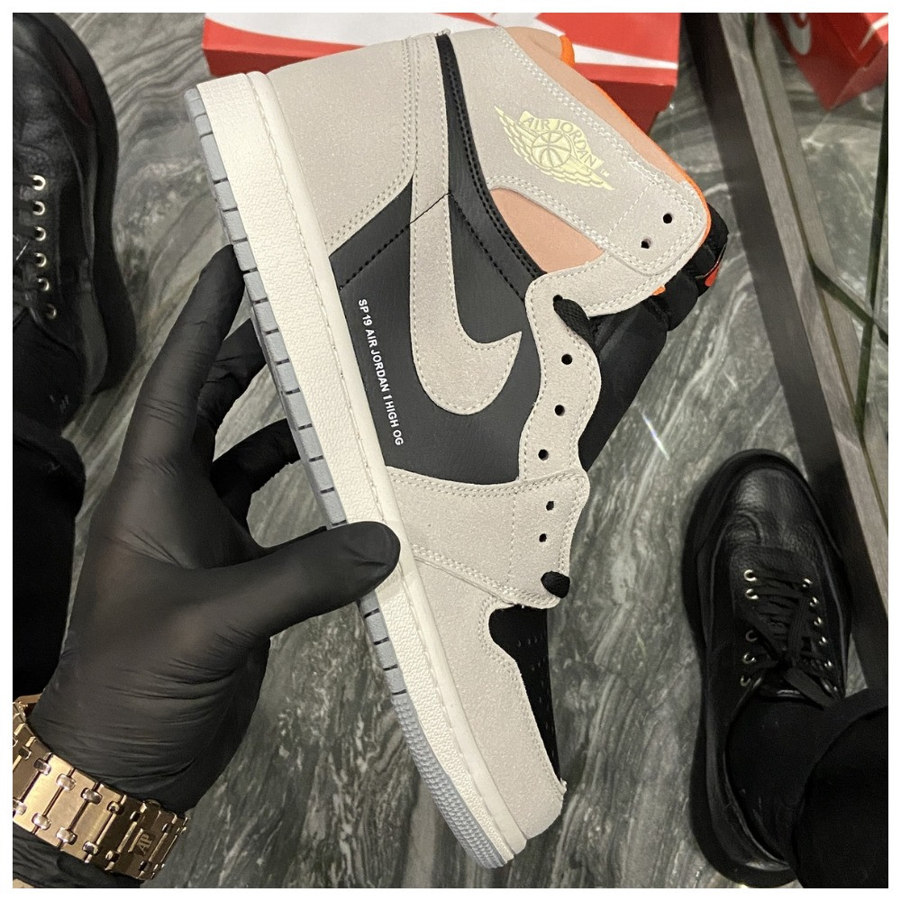 Мужские кроссовки Nike Air Jordan 1 SP 19 Grey Black найк аир джордан кросівки Nike Air Jordan 1 High OG Retro