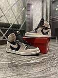 Мужские кроссовки Nike Air Jordan 1 SP 19 Grey Black найк аир джордан кросівки Nike Air Jordan 1 High OG Retro, фото 7