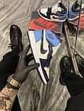 Кроссовки Nike Air Jordan 1 Retro High, кроссовки найк аир джордан 1 ретро, кросівки Nike Air Jordan 1 Blue, фото 2
