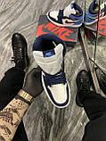 Кроссовки Nike Air Jordan 1 Retro High, кроссовки найк аир джордан 1 ретро, кросівки Nike Air Jordan 1 Blue, фото 3