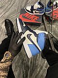 Кроссовки Nike Air Jordan 1 Retro High, кроссовки найк аир джордан 1 ретро, кросівки Nike Air Jordan 1 Blue, фото 4