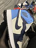 Кроссовки Nike Air Jordan 1 Retro High, кроссовки найк аир джордан 1 ретро, кросівки Nike Air Jordan 1 Blue, фото 5