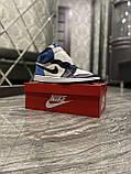 Кроссовки Nike Air Jordan 1 Retro High, кроссовки найк аир джордан 1 ретро, кросівки Nike Air Jordan 1 Blue, фото 8