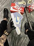Женские кроссовки Nike Air Jordan 1 Retro Kight Blue, кроссовки найк аир джордан 1 кросівки Nike Air Jordan 1, фото 2
