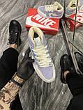 Женские кроссовки Nike Air Jordan 1 Retro Kight Blue, кроссовки найк аир джордан 1 кросівки Nike Air Jordan 1, фото 3