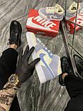 Женские кроссовки Nike Air Jordan 1 Retro Kight Blue, кроссовки найк аир джордан 1 кросівки Nike Air Jordan 1, фото 4