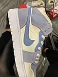 Женские кроссовки Nike Air Jordan 1 Retro Kight Blue, кроссовки найк аир джордан 1 кросівки Nike Air Jordan 1, фото 5