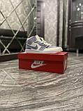 Женские кроссовки Nike Air Jordan 1 Retro Kight Blue, кроссовки найк аир джордан 1 кросівки Nike Air Jordan 1, фото 8