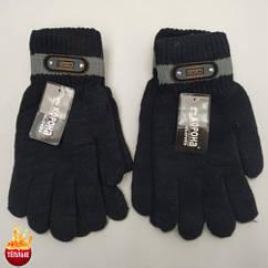 Шерстяные перчатки мужские двойные с начёсом Корона 8113 (25см) ПМЗ-160024