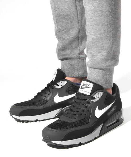 Мужские кроссовки Nike Air Max 90 Black Grey ( Реплика ) Остался 43 размер