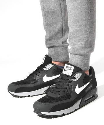 Мужские кроссовки Nike Air Max 90 Black Grey ( Реплика ) Остался 43 размер, фото 2