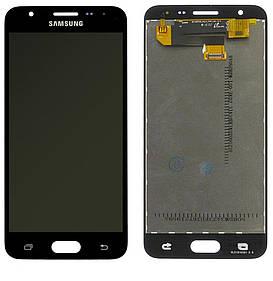Дисплей для Samsung G570 Galaxy J5 Prime с сенсорным стеклом (Черный) Оригинал Китай