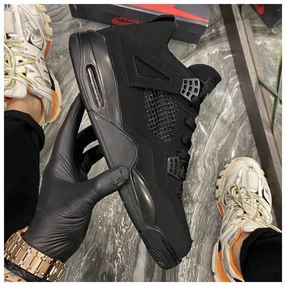 Кроссовки Nike Air Jordan 4 Retro Black Cat, кроссовки найк аир джордан 4 ретро кросівки Nike Jordan 4
