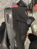 Кроссовки Nike Air Jordan 4 Retro Black Cat, кроссовки найк аир джордан 4 ретро кросівки Nike Jordan 4, фото 4