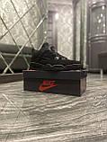 Кроссовки Nike Air Jordan 4 Retro Black Cat, кроссовки найк аир джордан 4 ретро кросівки Nike Jordan 4, фото 8