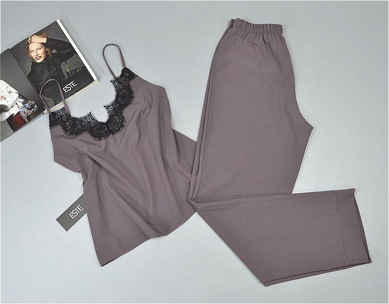 Комплект для сна майка штаны Este 213 какао.