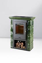 Печь-камин Thorma Borghollm Keramik Black/olivegreen