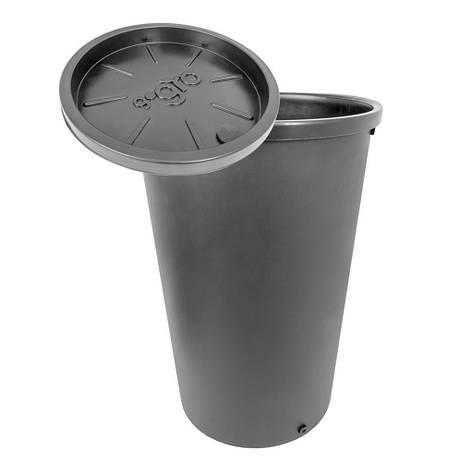 Емкость с крышкой круглая пластиковая GoGro 45л, фото 2