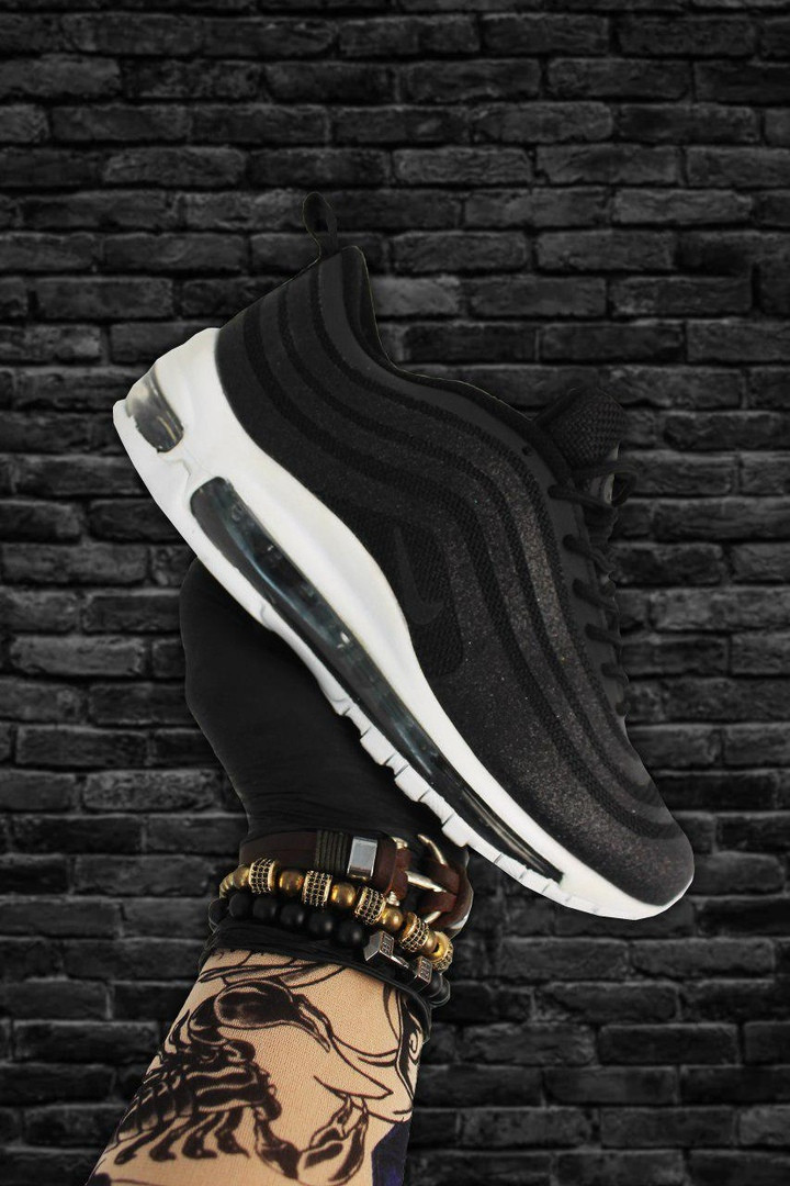 Кроссовки Nike Air Max 97 Swarovski Black White, кроссовки найк аир макс 97