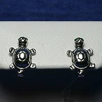 Серебряные серьги для детей Черепашки 2013