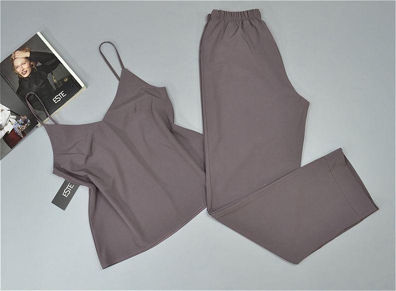 Пижама женская майка штаны Este однотонная софт.