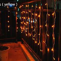 Уличная Гирлянда Бахрома Оптом 4x0,6 метра 120 LED, 20 нитей, 220В, IP55, Золото, FS-1795-65