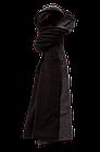 Шарф шерстяной темно-серый с черным, фото 3