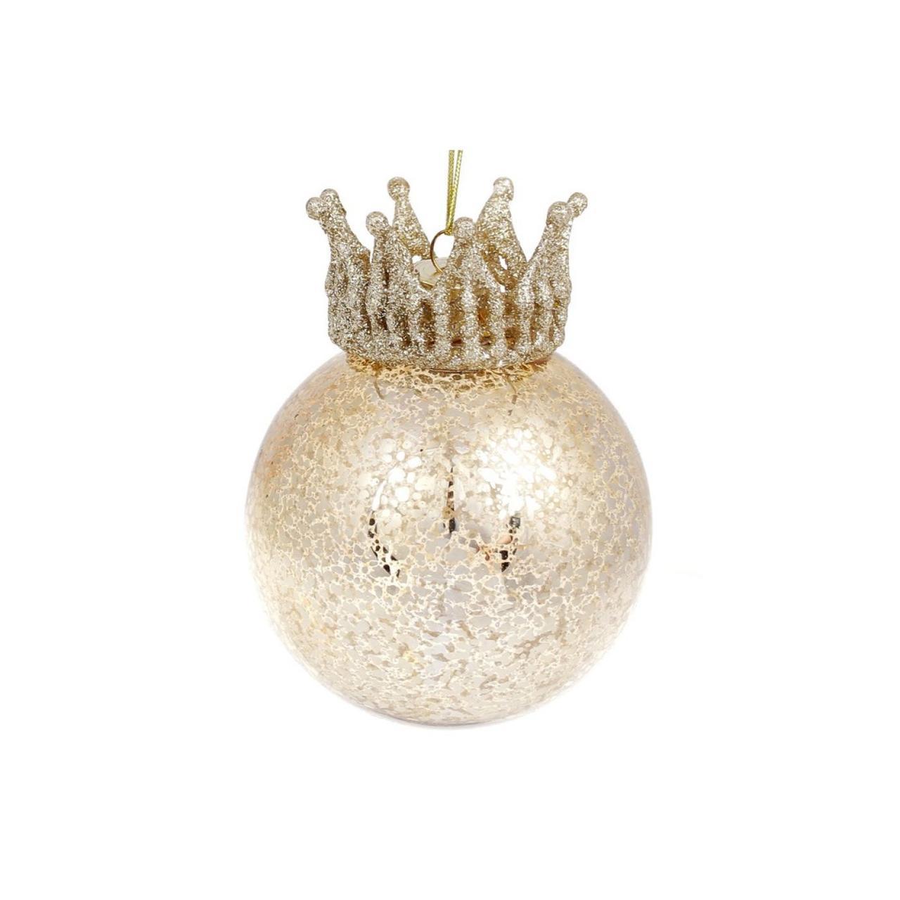 Куля скло з короною золото 118-528/Bonadi