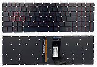 Клавиатура Acer Nitro 5 AN515-41 AN515-42 AN515-51 AN515-52 AN515-53 PWR черная без рамки подсветка RED Прямой