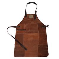 Фартук для гриля кожаный коричневый Holla Grill, фото 1