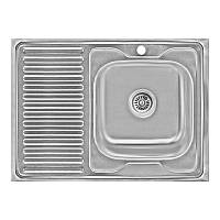Кухонная мойка Lidz 6080-R Decor 0,6 мм (LIDZ6080RDEC06), фото 1