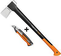 Набор топор-колун Fiskars Х25 ХL + нож CarbonMax (1015643/122483), фото 1