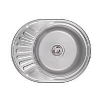 Кухонная мойка Lidz 6044 Satin 0,8 мм (LIDZ6044SAT), фото 1