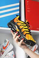 Мужские кроссовки Nike Air VaporMax TN Yellow Orange, мужские кроссовки найк аир вапормакс тн
