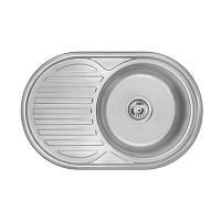 Кухонная мойка Lidz 7750 Satin 0,6 мм (LIDZ775006SAT), фото 1