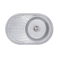 Кухонная мойка Lidz 7750 Decor 0,6 мм (LIDZ775006DEC), фото 1