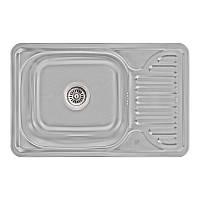 Кухонная мойка Lidz 6642 Micro Decor 0,8 мм (LIDZ664208MICDEC), фото 1